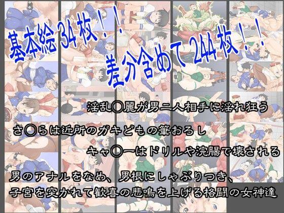 【ストリートファイター 同人】格闘三美神