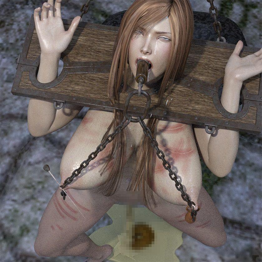 【キンク文庫 同人】首吊り調教されるムチムチ制服美女