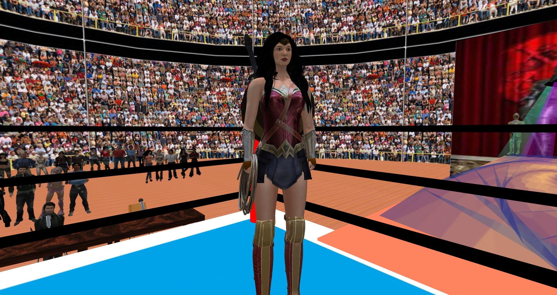 【ナナのキャットファイティング 同人】スーパーヒーローの全裸ファイト
