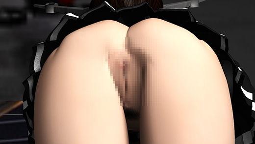 【陸奥 同人】ゲームショウの1セッションで「編隊これくしょん」の陸奥(りくおく)のコスプレ女子として登場した激ミニちゃんを舐めるように撮影した盗撮動画(シーン6:よつんばいポーズでノーパンマ○コ丸見えオシリフリフリ編)