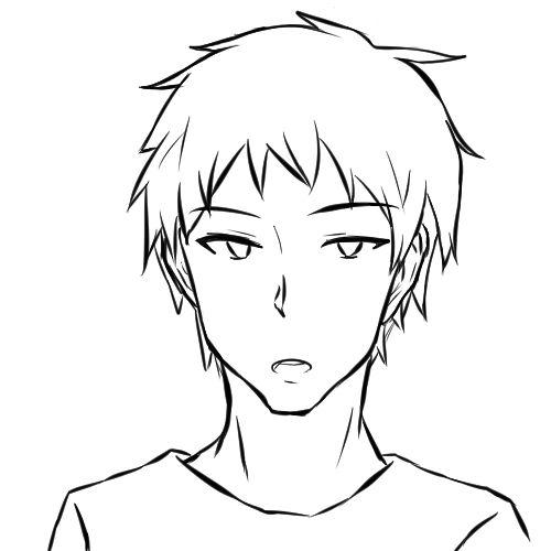 【日本刀流星群 同人】顔の線画3
