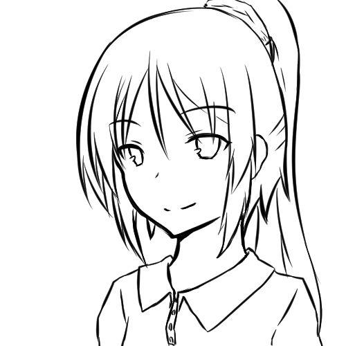 【日本刀流星群 同人】顔の線画5
