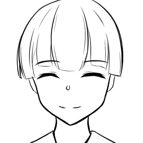 【日本刀流星群 同人】顔の線画7