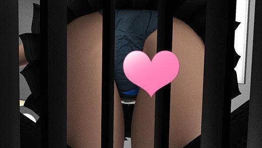 【AIR 同人】早朝の駅でスカートの超絶短い女子学生を見つけたのだが、ホームの側溝の中から彼女のスカートの中を堂々と覗いているとんでもない変態サラリーマンに気付いて驚愕!ヘッドフォンの音楽とスマホに夢中で全く気付かない彼女。