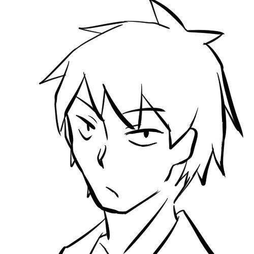 【日本刀流星群 同人】顔の線画13