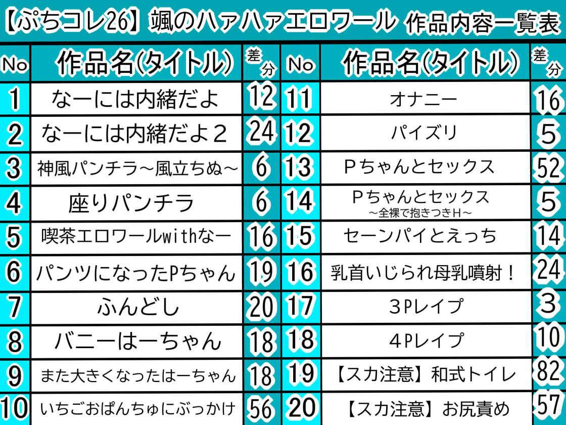 【ぷちコレ26】 颯のハァハァエロワール画像no.3