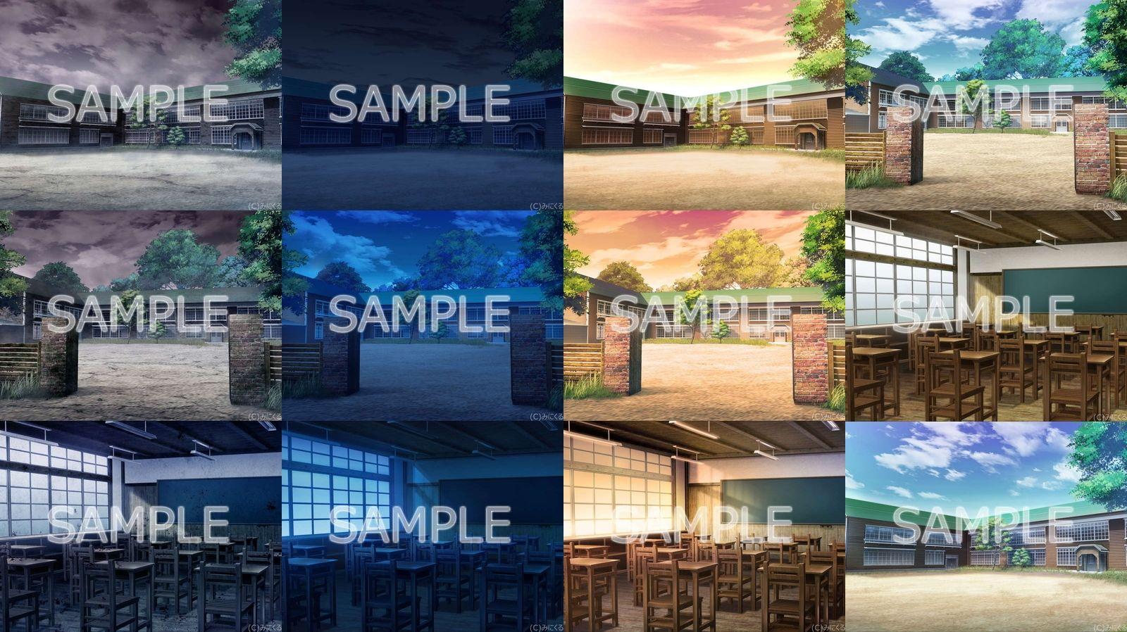 みにくる背景CG素材集『旧校舎・ホラー編』part01のサンプル画像2