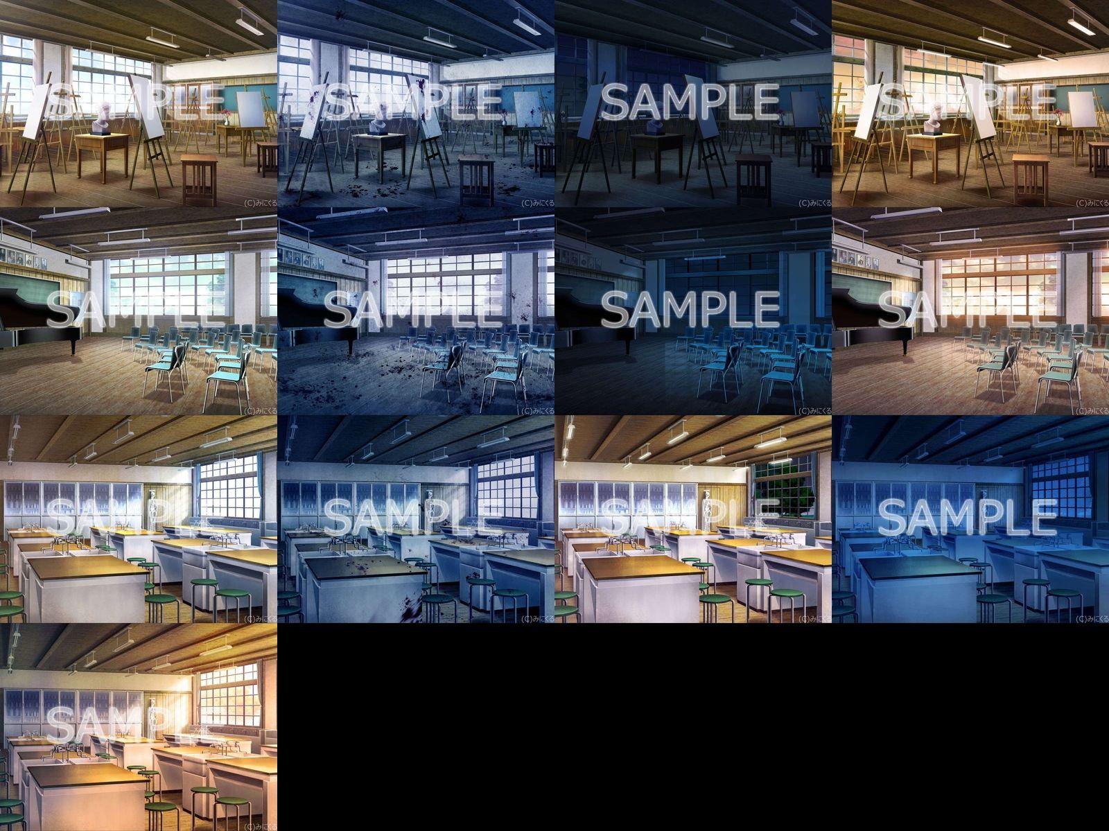 みにくる背景CG素材集『旧校舎・ホラー編』part01のサンプル画像3