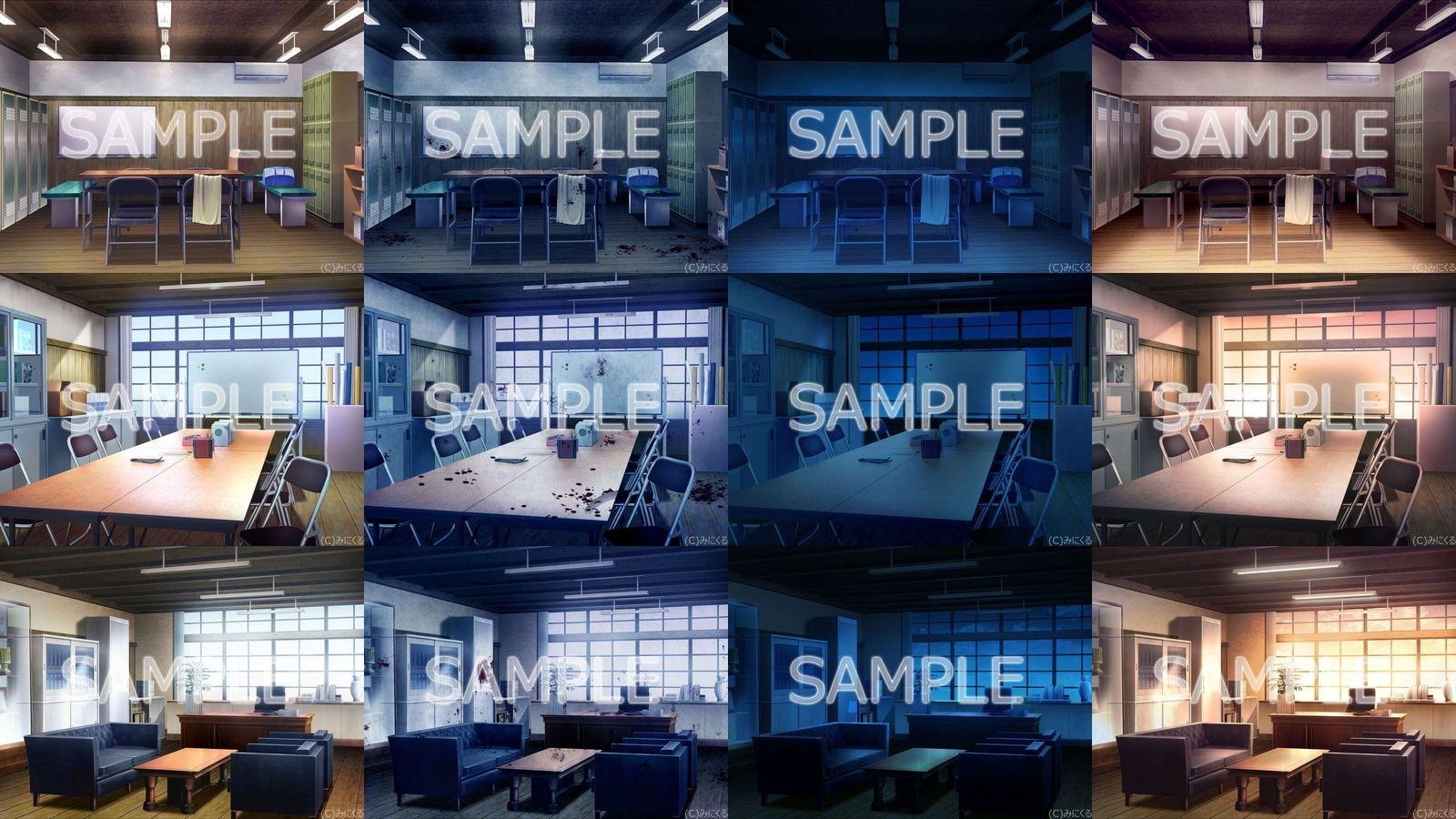 みにくる背景CG素材集『旧校舎・ホラー編』part01のサンプル画像4