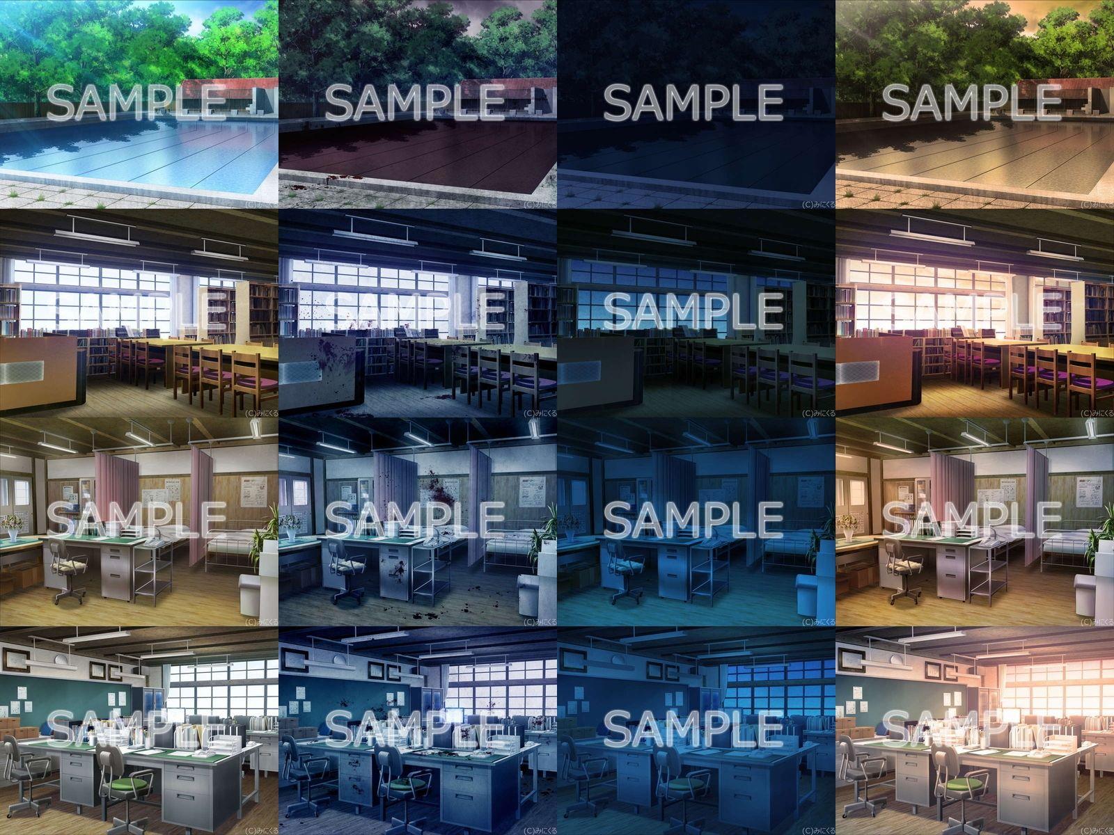 みにくる背景CG素材集『旧校舎・ホラー編』part01のサンプル画像6