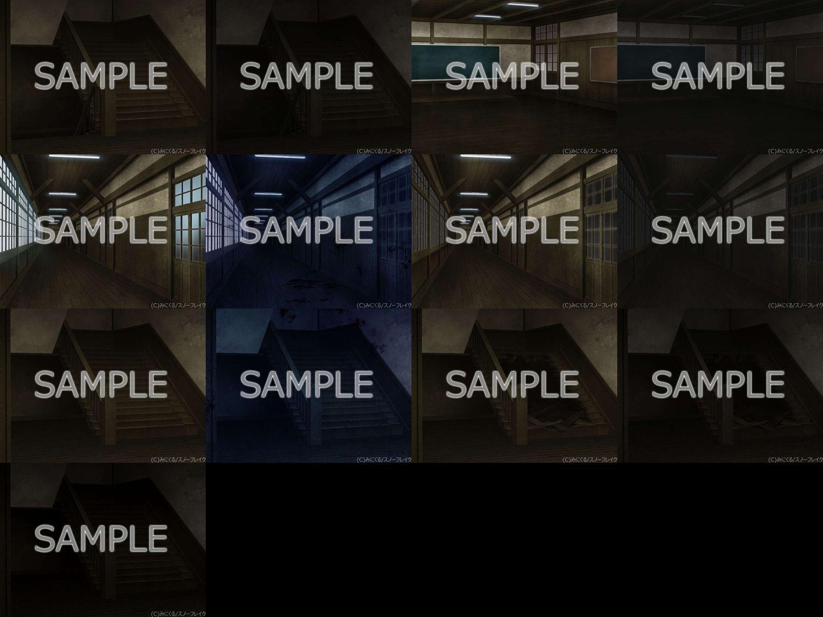 みにくる背景CG素材集『旧校舎・ホラー編』part01のサンプル画像7