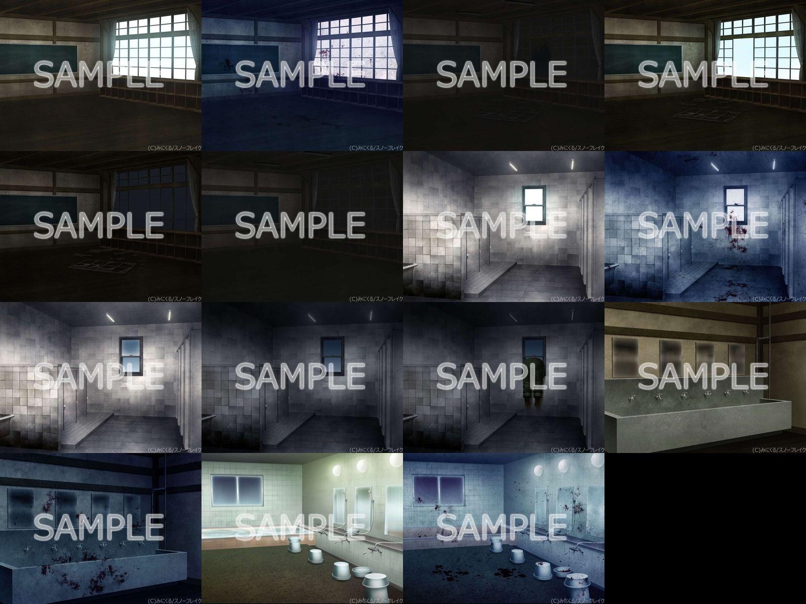 みにくる背景CG素材集『旧校舎・ホラー編』part01のサンプル画像8