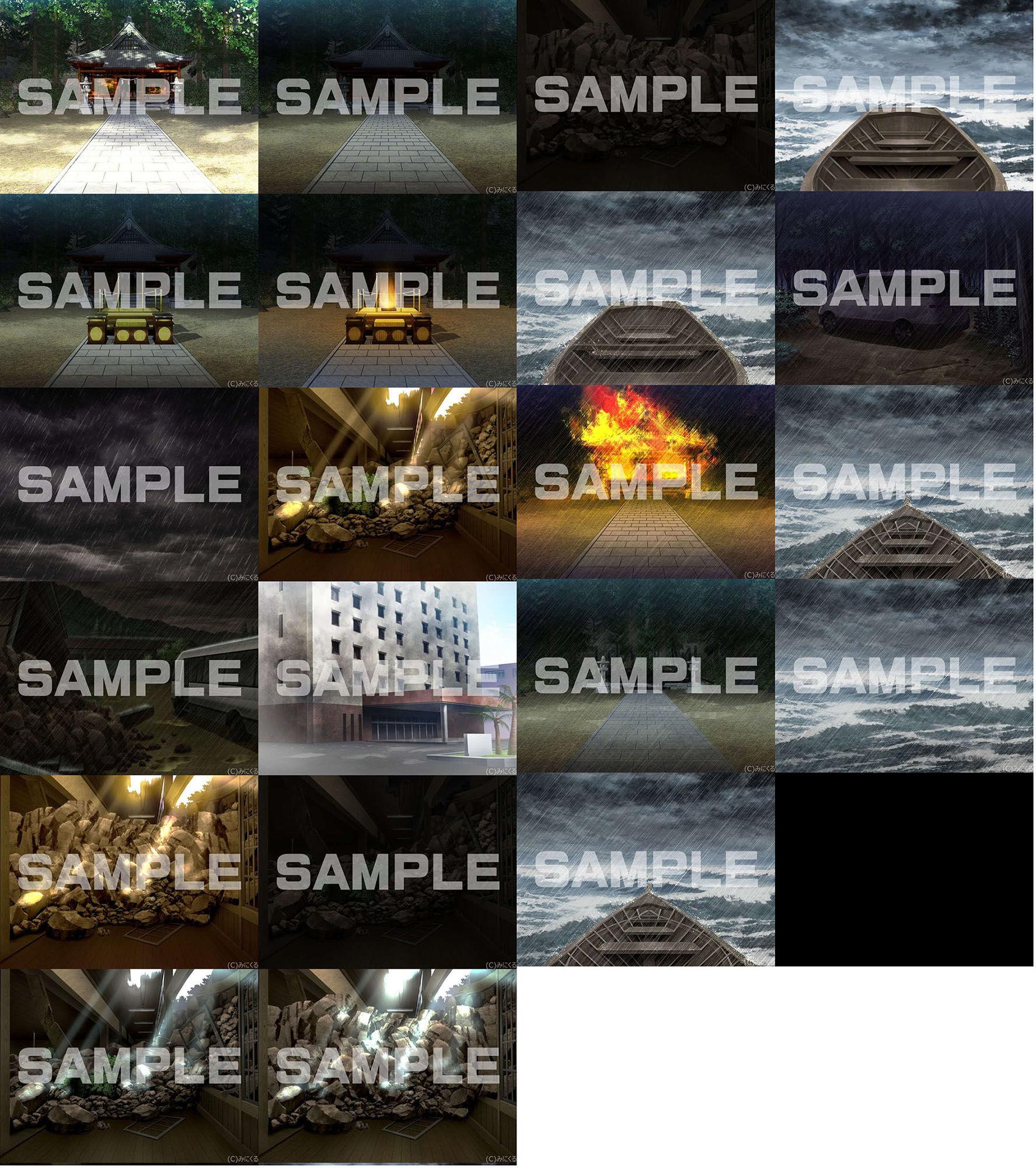 みにくる背景CG素材集『旧校舎・ホラー編』part01のサンプル画像11