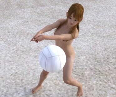 全裸ビーチバレーのサンプル画像4