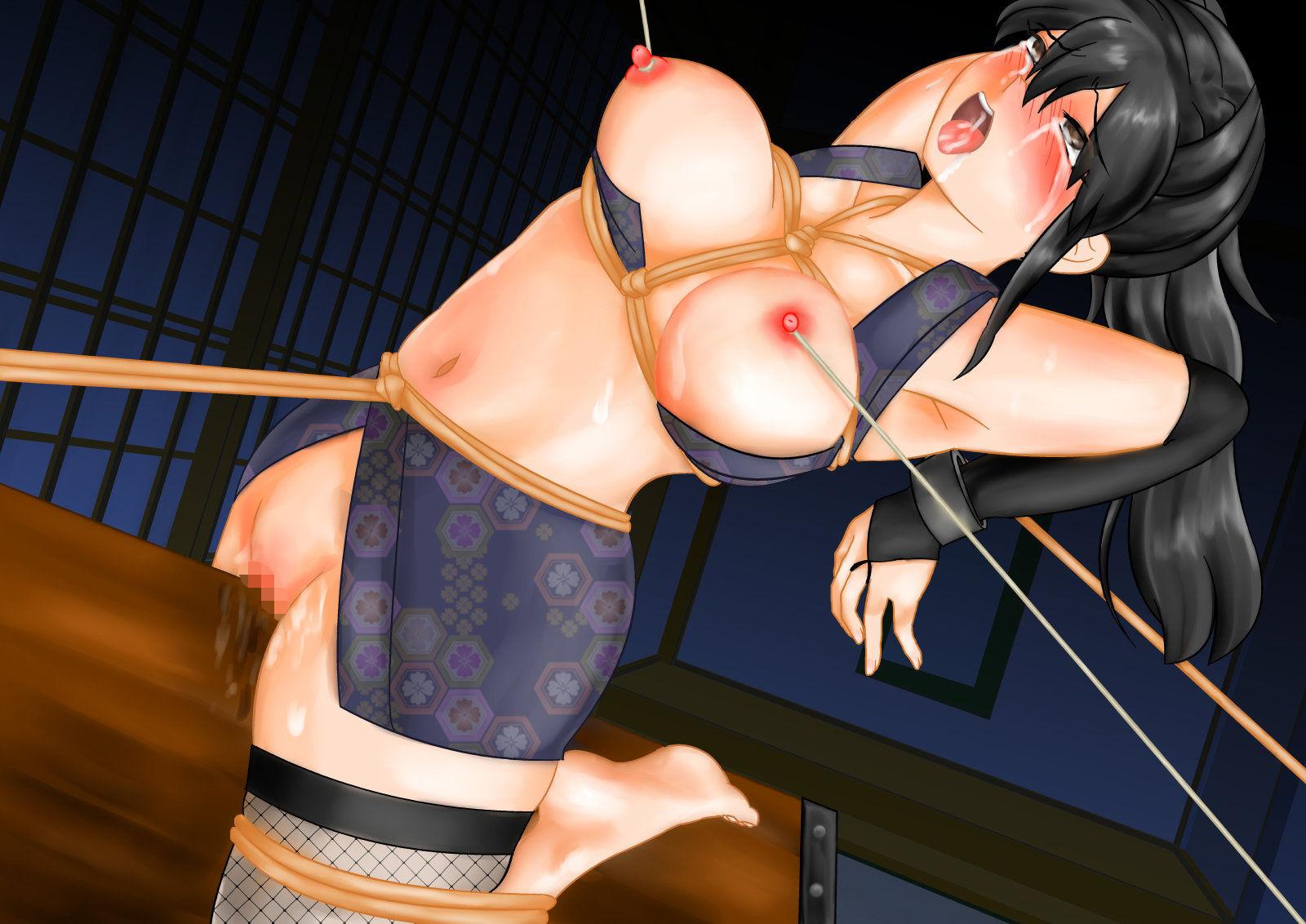 巨乳くのいち拷問、くすぐり寸止め痒み責め触手地獄