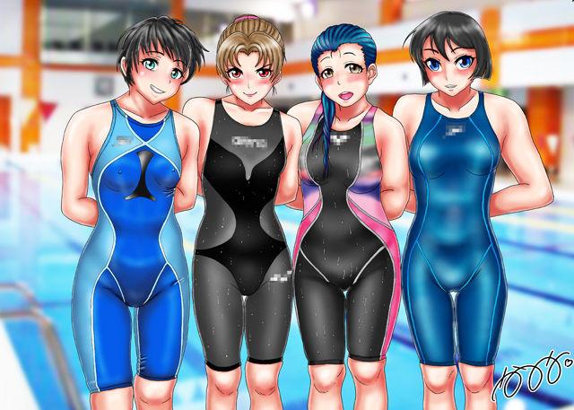 競泳水着集団凌●・穢されたメドレーリレー2