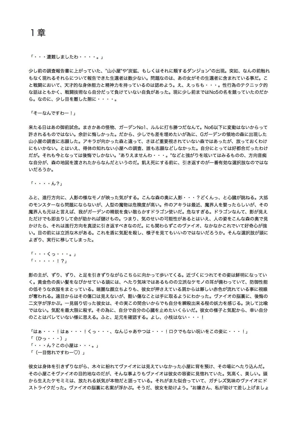 【yatsureCreate 同人】【ノベル】迷った森にいたケモミミ娘が死にかけで偉そうだ。