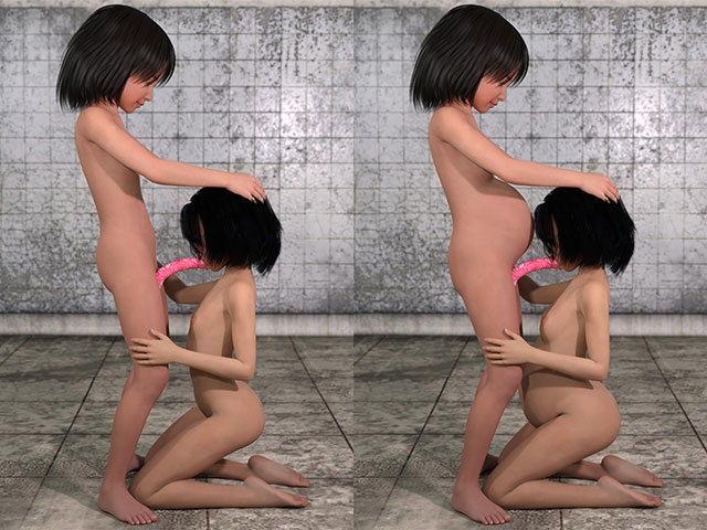【ポザ孕 同人】お手軽少女エロ画像集Vol.044(FANZA独自修正版)