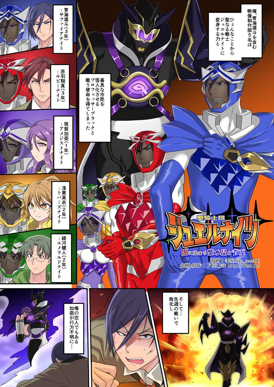 『聖騎士団ジュエルナイツ闇に染まる紫水晶と青玉』 同人誌のサンプル画像です
