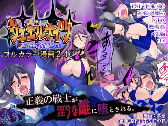 聖騎士団ジュエルナイツ闇に染まる紫水晶と青玉【TS悪堕ち】