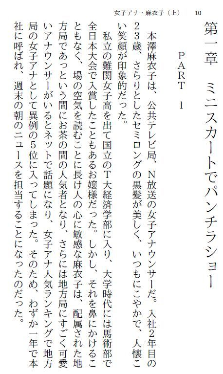 【myuyan 同人】女子アナ・麻衣子(上)~恥辱の生放送~