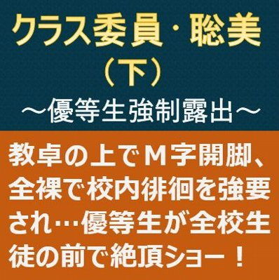 クラス委員・聡美(下)~優等生強●露出~