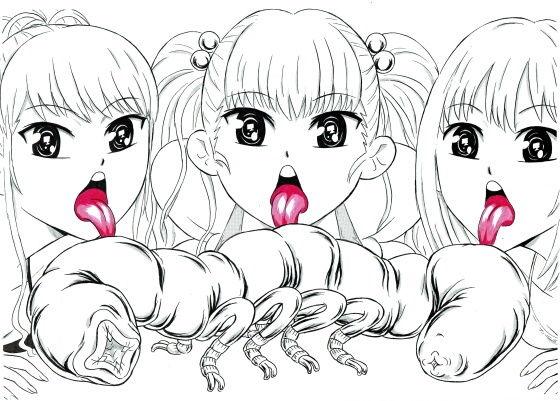 ビキニ少女とキモい虫