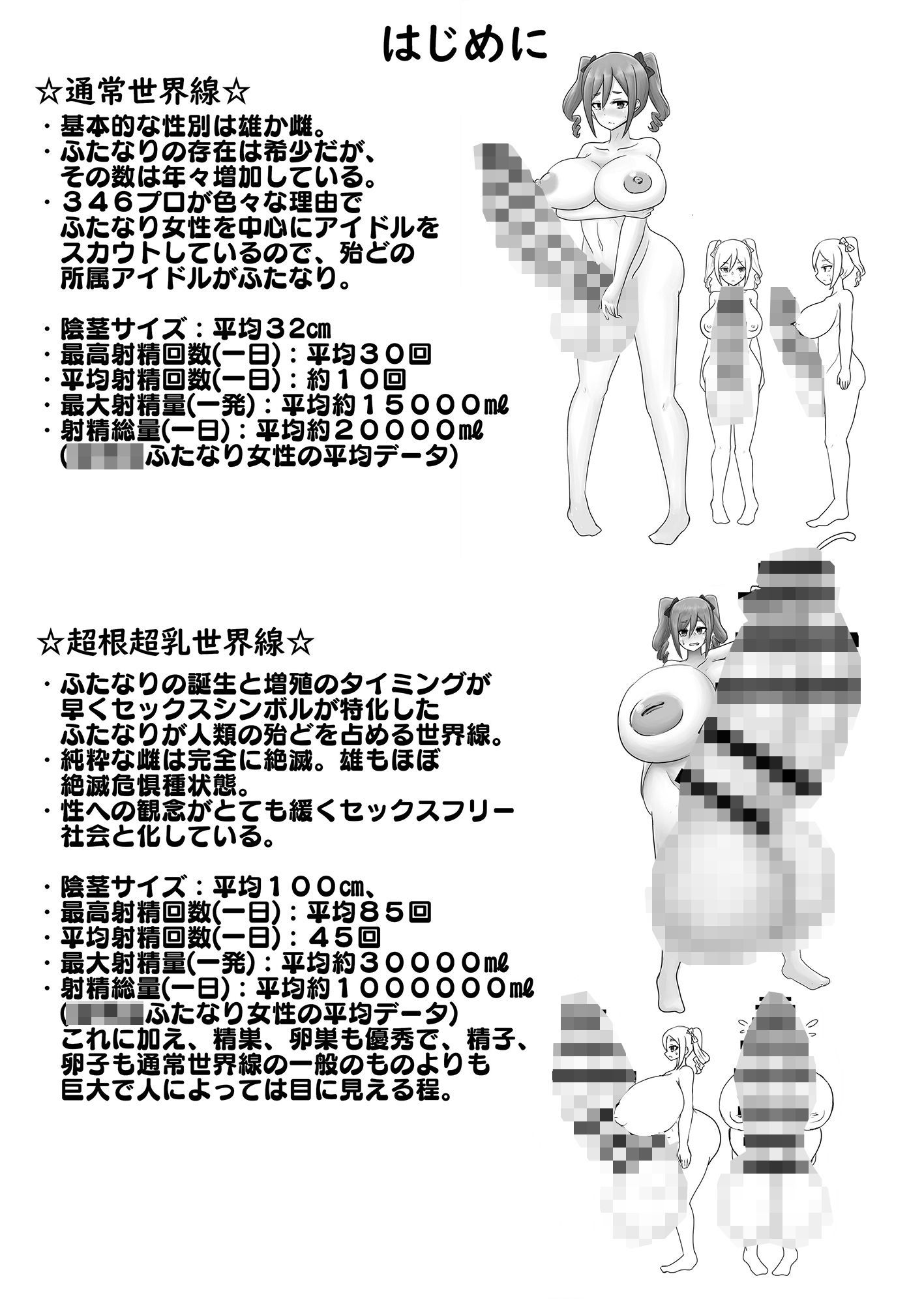 超根超乳世界線のアイドル名鑑2のサンプル画像2