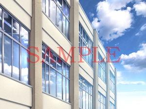 【キュキュキュのQのQ 同人】著作権フリー背景CG素材「校舎の一部」
