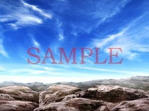 【キュキュキュのQのQ 同人】著作権フリー背景CG素材「岩場」