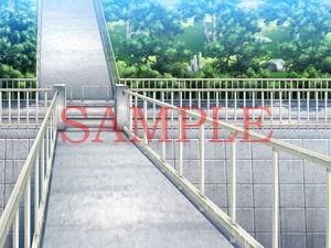 【キュキュキュのQのQ 同人】著作権フリー背景CG素材「歩道」