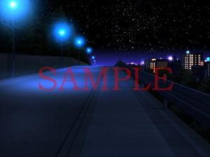 【キュキュキュのQのQ 同人】著作権フリー背景CG素材「歩道2」