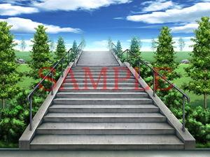 【キュキュキュのQのQ 同人】著作権フリー背景CG素材「階段」