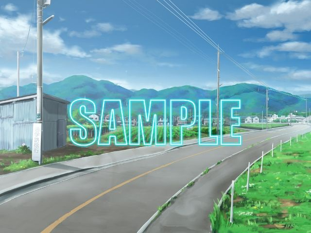 【少年舎 同人】背景素材:田舎道1