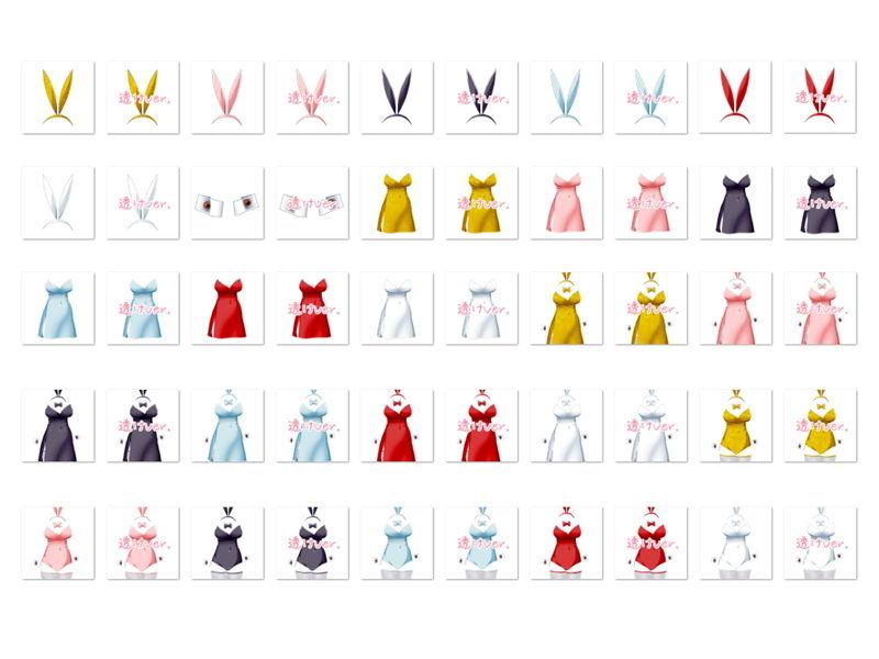 【White Candy 同人】佐野俊英があなたの専用原画マンになります衣装素材集C-バニーガール-