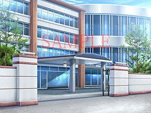 【キュキュキュのQのQ 同人】著作権フリー背景CG素材「学園校門教室」