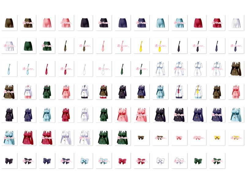 【White Candy 同人】佐野俊英があなたの専用原画マンになります衣装素材集B-ブレザー-