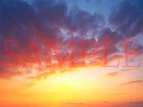 【キュキュキュのQのQ 同人】著作権フリー背景CG素材「雲素材と夕焼け」