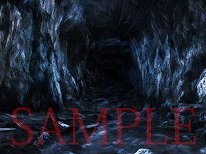 【キュキュキュのQのQ 同人】著作権フリー背景CG素材「洞窟」
