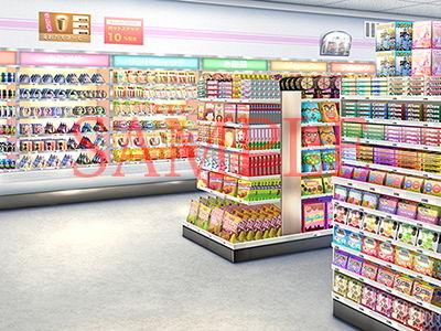 【キュキュキュのQのQ 同人】著作権フリー背景CG素材「コンビニ店内」