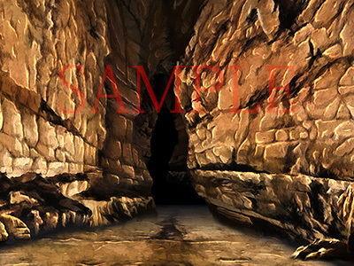 【キュキュキュのQのQ 同人】著作権フリー背景CG素材「洞窟2」