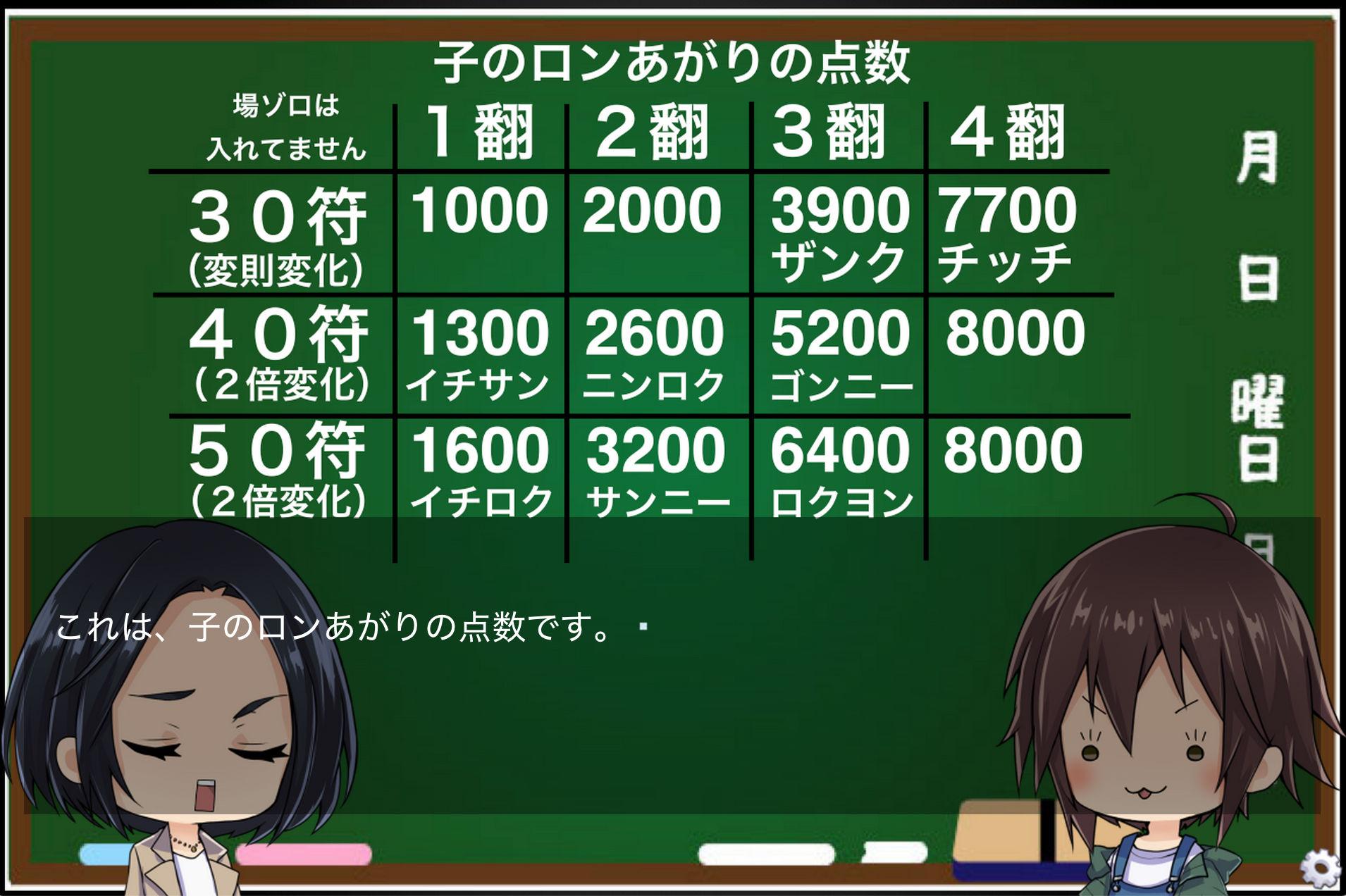 麻雀の点数計算を覚えられるゲーム(windows用)(ZIZANION GAME) [d_160134] 6