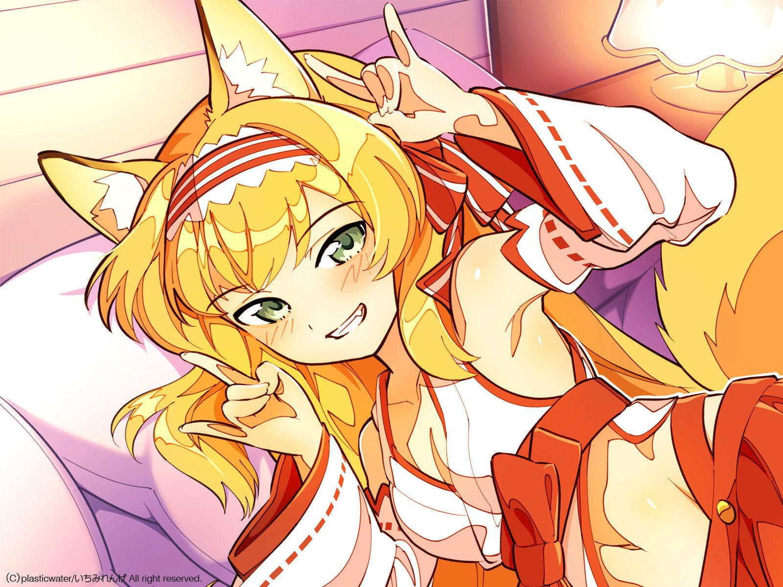 【バイノーラル録音】 迷い子は腹ペコお狐様!? ~囁き、吐息、耳舐め、口淫...のサンプル画像2